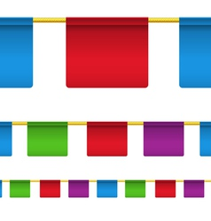 Rectangular flag banners vector image