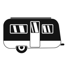 Retro travel trailer icon simple style vector