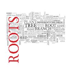 root word cloud concept vector image