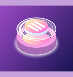 round button startup or business platform vector image