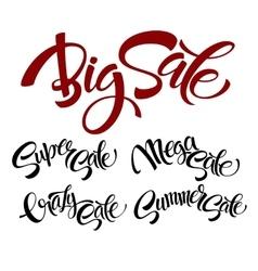 set Sale lettering vector image