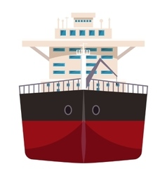 Ship with oil icon cartoon style vector