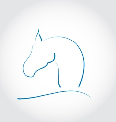 Sign horse vector image vector image