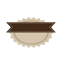 Star oval shape seal stamp with brown label vector
