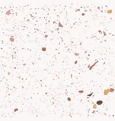 tile terrazzo pattern with colorful stone on pink vector image