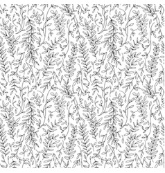 tree branches hand drawn seamless pattern vector image