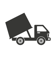 truck vehicle recycle garbage icon vector image