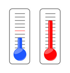 two thermometers vector image