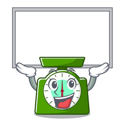 Up board kitchen scale character cartoon vector