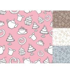 Vintage Bakery Seamless patternbakcgroundHand vector image