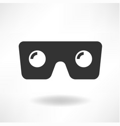 Vr glass icon vector