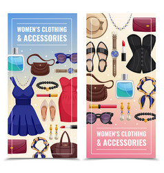 women accessories vertical banner set vector image