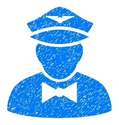 Airline steward grainy texture icon vector