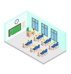 isometric school class room vector image