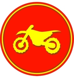 Motorcycle sport sign vector image vector image