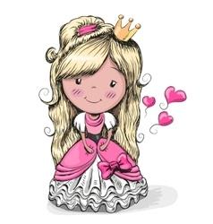 Cartoon Pretty Princess vector image