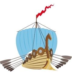 Drakkar Vikings Ship vector image vector image