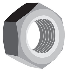 Metal screw female vector image
