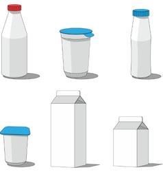 Milk packaging set 001 vector image