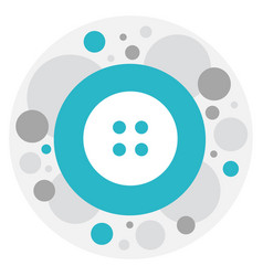Of shopping symbol on button vector