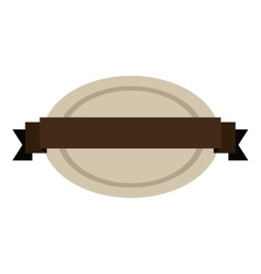 Oval shape seal stamp with brown label center vector