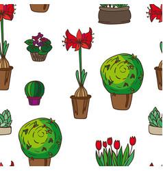pattern of indoor plants vector image