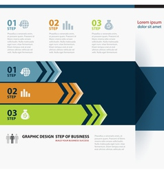 Business Step Paper Lines And Numbers vector image vector image