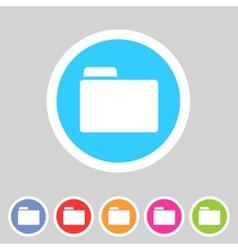 Folder attachment badge flat icon sign set symbol vector image vector image