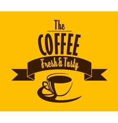 Fresh and tasty coffee banner vector image