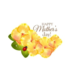 Greeting card for Mothers day with flowers of vector image