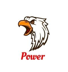 Screaming eagle head symbol for tattoo design vector image