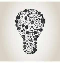 Sports a bulb vector image vector image