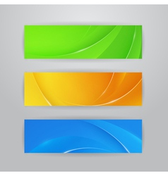 Abstract horizontal banners vector image vector image