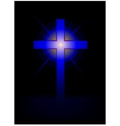 Blue cross background vector