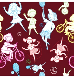 children sports vector image
