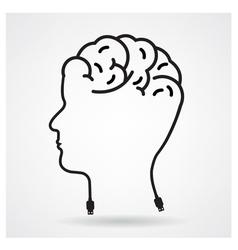 Creative head brain idea concept vector image