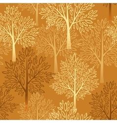 Fall season background Autumn tree seamless vector image vector image