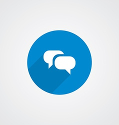 Flat conversation icon vector