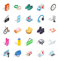 online purchases icons set isometric style vector image
