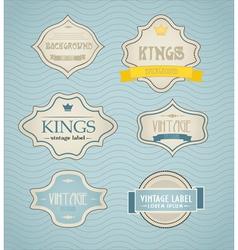 vintage labels discount labels set vector image vector image