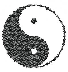 yin-yang mosaic vector image