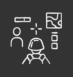 3d shooter chalk icon virtual video game online vector image