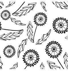 Abstract dandelions vector