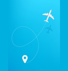 airplane travel travel concept vertical travel vector image