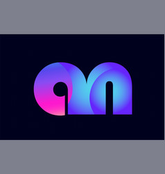 an a n spink blue gradient alphabet letter vector image
