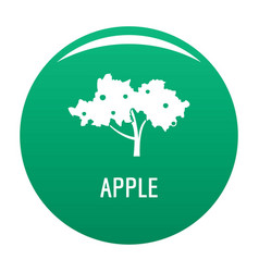 Apple tree icon green vector