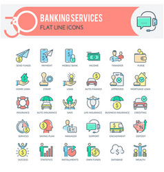 banking services icons vector image