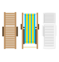 beach lounger top view vector image