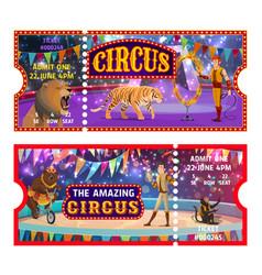 Big top circus tickets entertainment show admit vector