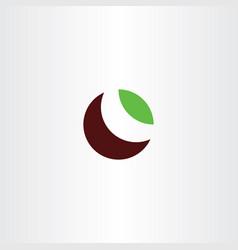 bio leaf letter o logotype symbol vector image